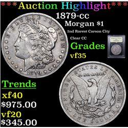 ***Auction Highlight*** 1879-cc Morgan Dollar $1 Graded vf++ By USCG (fc)