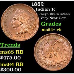 1882 Indian Cent 1c Grades Choice+ Unc RB