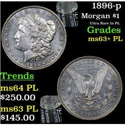 1896-p Morgan Dollar $1 Grades Select Unc+ PL