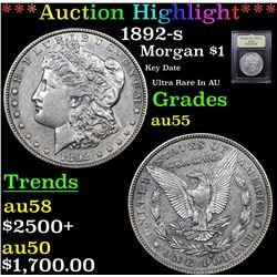 ***Auction Highlight*** 1892-s Morgan Dollar $1 Graded Choice AU By USCG (fc)