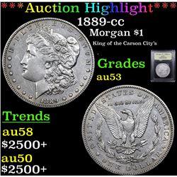 ***Auction Highlight*** 1889-cc Morgan Dollar $1 Graded Select AU By USCG (fc)