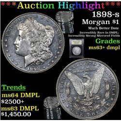 ***Auction Highlight*** 1898-s Morgan Dollar $1 Graded Select Unc+ DMPL By USCG (fc)