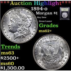 ***Auction Highlight*** 1894-o Morgan Dollar $1 Graded Select Unc By USCG (fc)