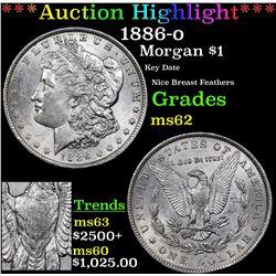 ***Auction Highlight*** 1886-o Morgan Dollar $1 Grades Select Unc (fc)