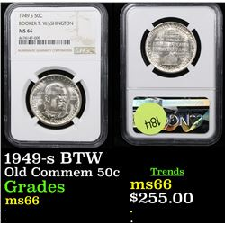 NGC 1949-s BTW Old Commem Half Dollar 50c Graded ms66 By NGC