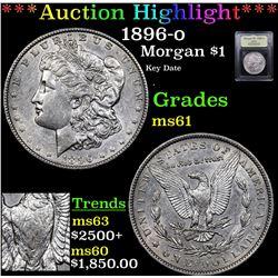 ***Auction Highlight*** 1896-o Morgan Dollar $1 Graded BU+ By USCG (fc)