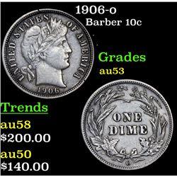 1906-o Barber Dime 10c Grades Select AU