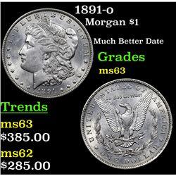 1891-o Morgan Dollar $1 Grades Select Unc
