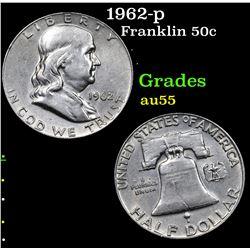1962-p Franklin Half Dollar 50c Grades Choice AU