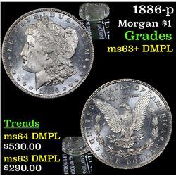 1886-p Morgan Dollar $1 Grades Select Unc+ DMPL