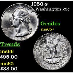 1950-s Washington Quarter 25c Grades GEM+ Unc