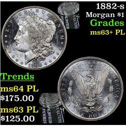 1882-s Morgan Dollar $1 Grades Select Unc+ PL