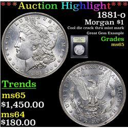 ***Auction Highlight*** 1881-o Morgan Dollar $1 Graded GEM Unc By USCG (fc)
