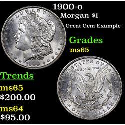 1900-o Morgan Dollar $1 Grades GEM Unc