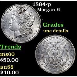 1884-p Morgan Dollar $1 Grades Unc Details
