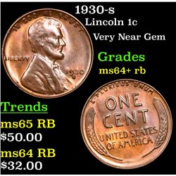 1930-s Lincoln Cent 1c Grades Choice+ Unc RB