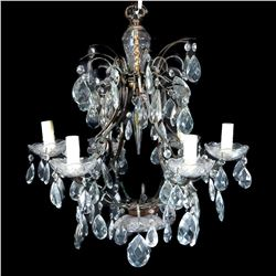 A crystal chandelier.