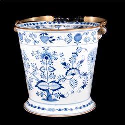 A Meissen porcelain ice bucket.
