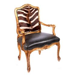 Gilt wood armchair.