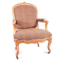 Giltwood armchair.