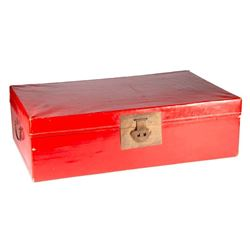 Chinese red lacquered box.