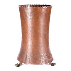 Copper umbrella stand.