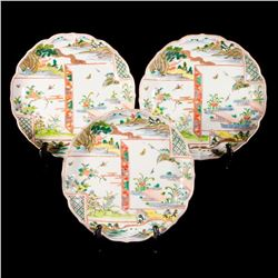 Eight Imari dishes.