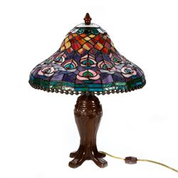 Art glass desk lamp.