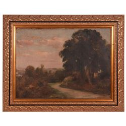 19th century oil on canvas landscape.
