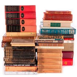 Collection of vintage books.