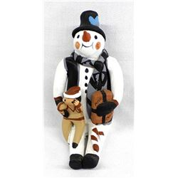 Jemez Pueblo Pottery Snowman Storyteller, Lucero