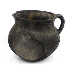 Historic Taos Pueblo Utilitarian Pottery Jar
