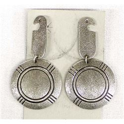 Contemporary Navajo Sterling Silver Earrings