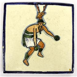 Red Clay Pottery Yaqui Indian Deer Dancer Tile