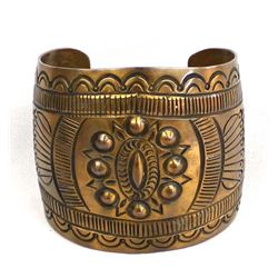 Native American Navajo Copper Cuff Bracelet