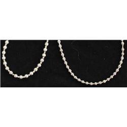 2 Silver Bead Necklaces