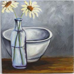 Original Oil Painting ''Dos Flores'' by Savarese