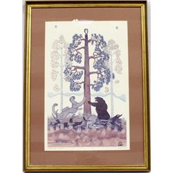 Signed and Numbered Native American Tahoma Print