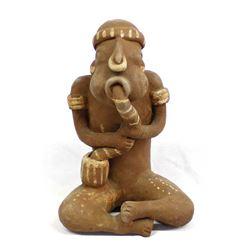 PreColumbian Medicine Man Pottery Replica
