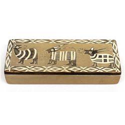 African Carved Soapstone Lidded Trinket Box