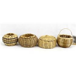 4 Native American Cherokee Baskets