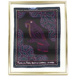 Framed Pucallpa Peru Parrot Tapestry by B. Campos