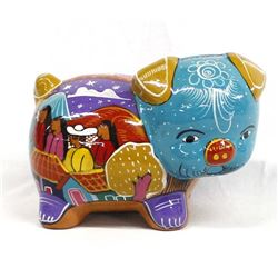 Colorful Mexican Pottery Piggy Bank
