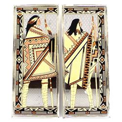 2 Native American Style Mirrors