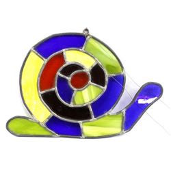 Stained Glass Snail Hanging Decor