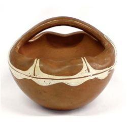 Vintage Santa Clara Pottery Basket