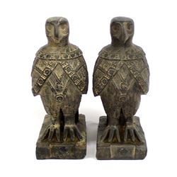 Pair of Egyptian Falcon Statues