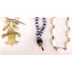 3 Trade Bead Necklaces