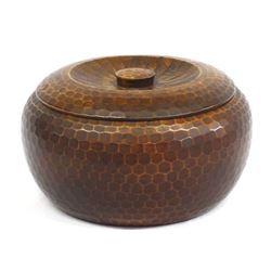 Japanese Carved Lidded Wood Box