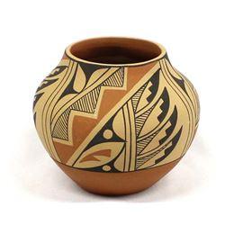 Jemez Pueblo Polychrome Pottery Jar by D. Tosa